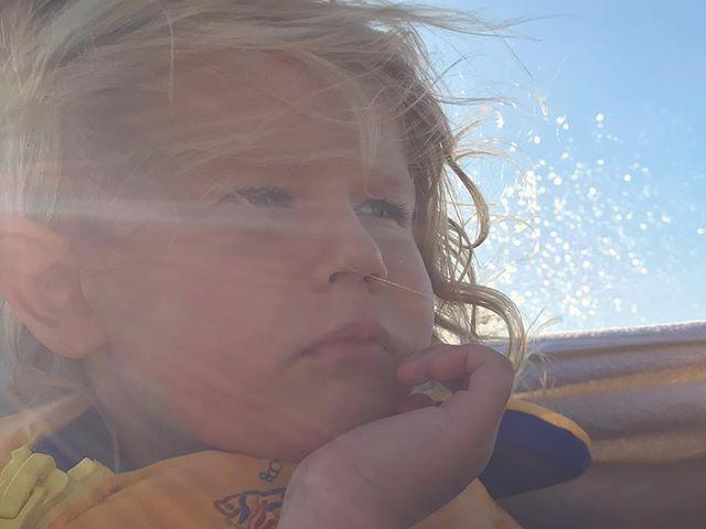 Ava contemplations whilst speeding across Lake Arrowhead.