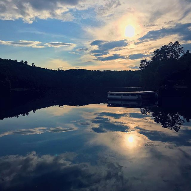 Late afternoon swims at Mountain Lake - life goals #tmr #summer