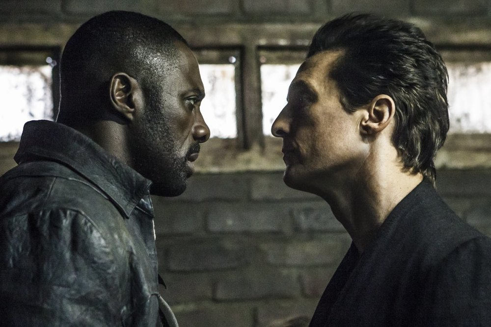 Actors Idris Elba & Matthew McConaughey in The Dark Tower.