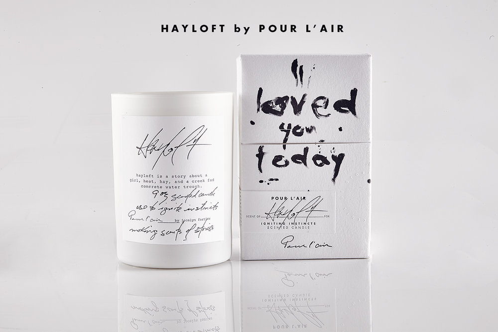 Fall scent trends are grounding with earthy, edgy notes.  Hayloft by Pour l'air has notes of hay and wet concrete and a story of a girl cooling down in a barn.  Use it to ignite instincts. Read the story  here.