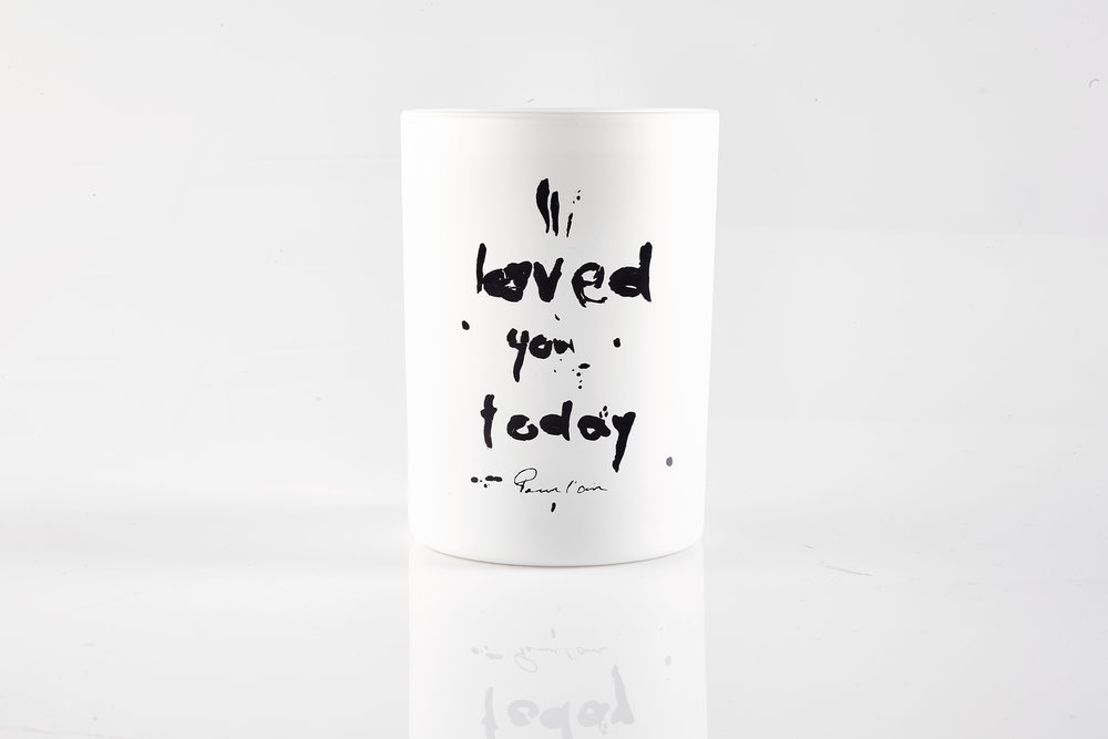 Pour l'air vessels are two sided with our handpainted art. I loved you today is a reminder to look at each day and find something you loved in it. It will make you happy. #gratitude