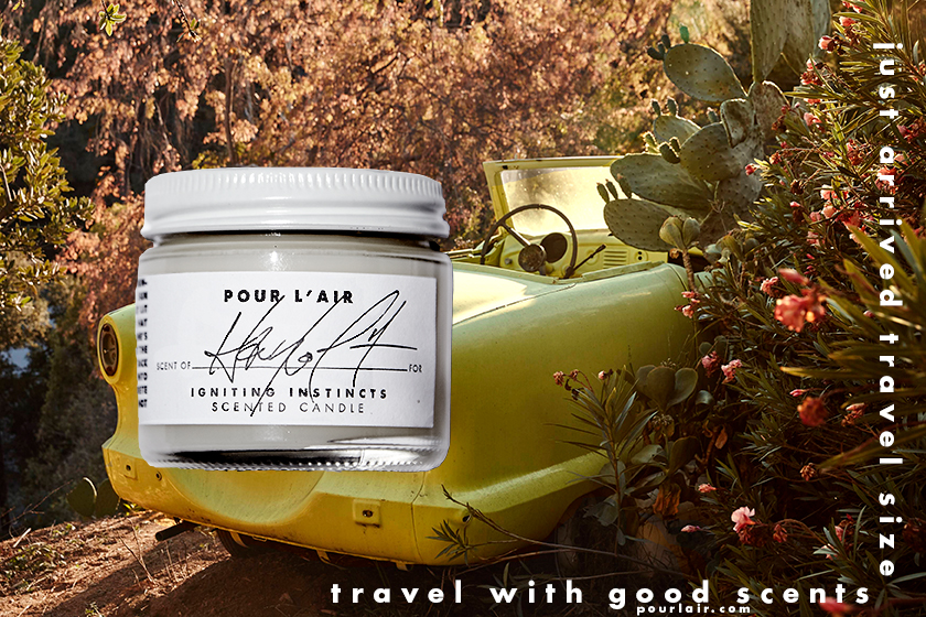 Pour l'air travel candle