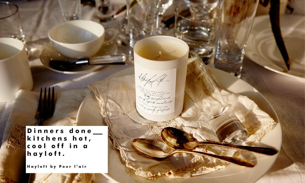 Pour l'air scents Hayloft hostess gift