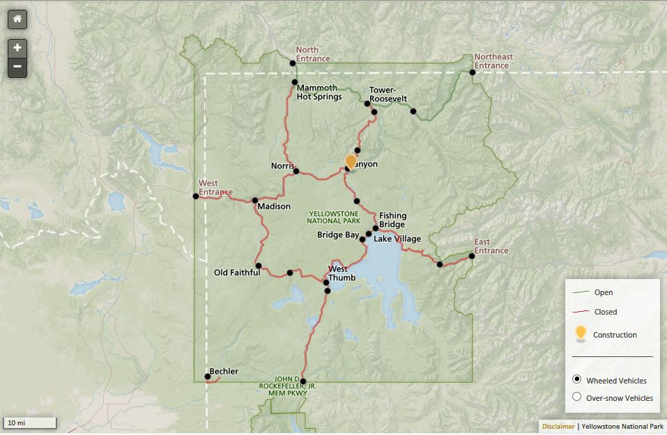 Yellowstone Real Time Road Map.JPG