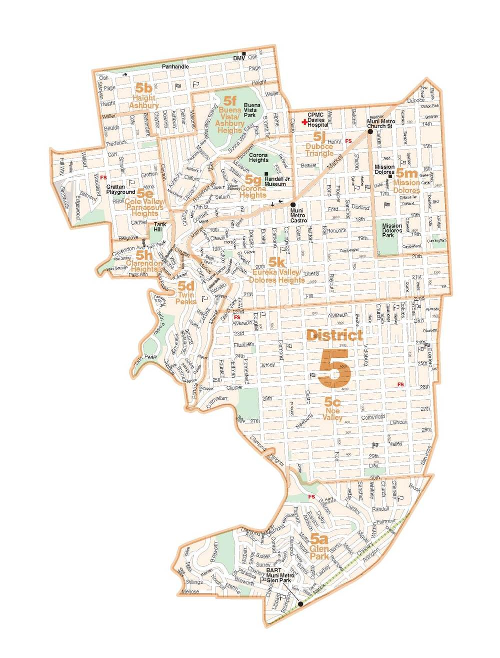 District 5 - Central  Lower Pacific Heights, Anza Vista, Western Addition, North Panhandle, Alamo Square, Hayes Valley