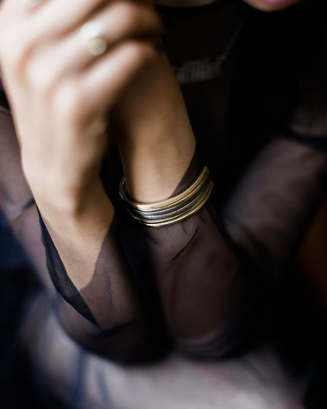 Classic horseshoe cuff - adjustable fit / I wear mine mixed + stacked / available in brass + oxidized silver : salmiel.com   SHOP