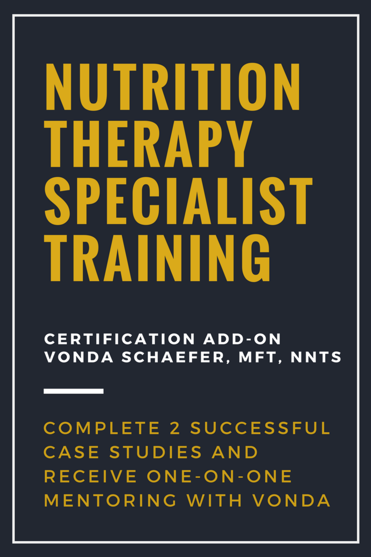 Nutrition Therapy Specialist Training Certification Add On