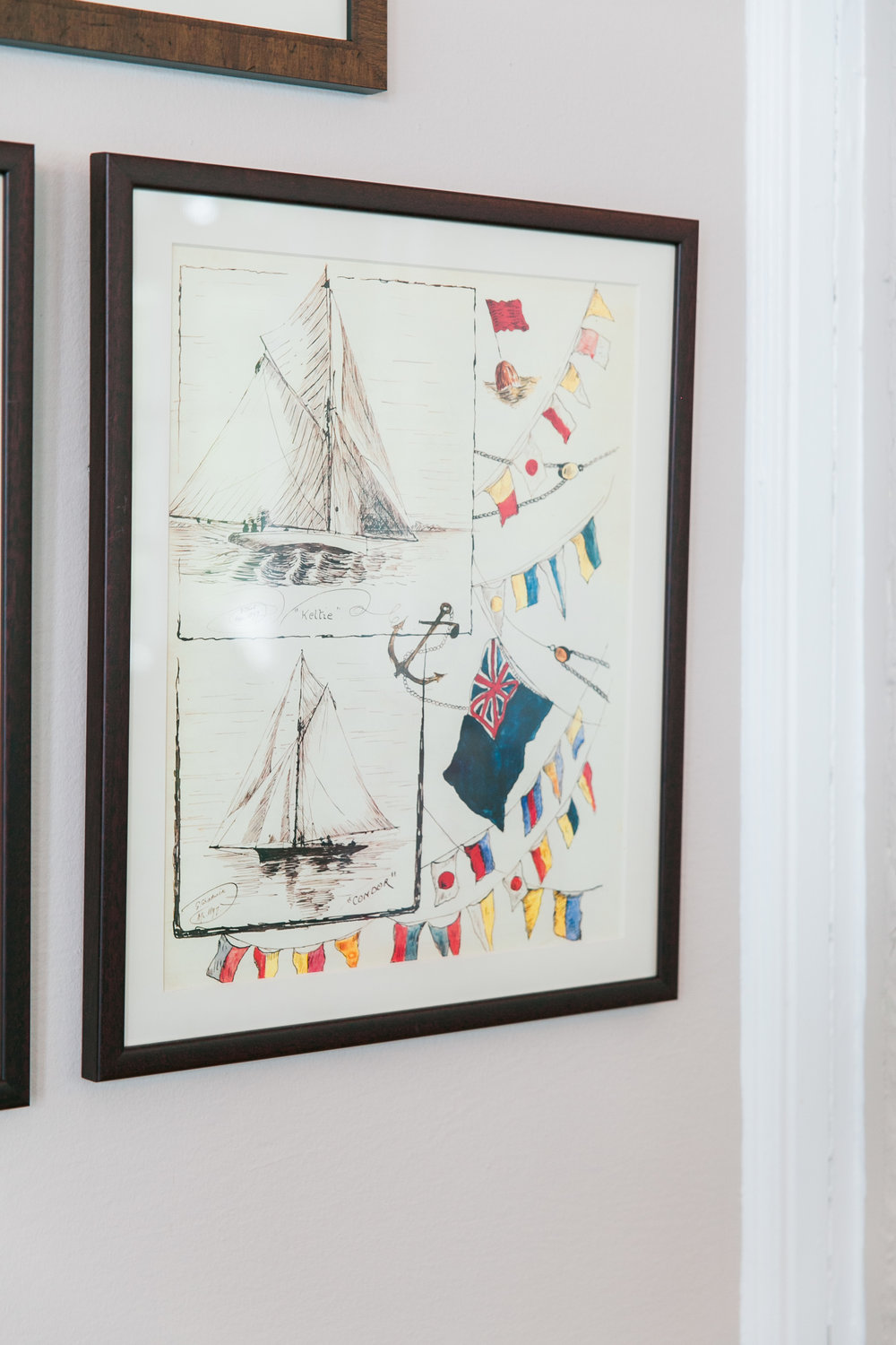Nautical art at Royal Canadian Yacht Club