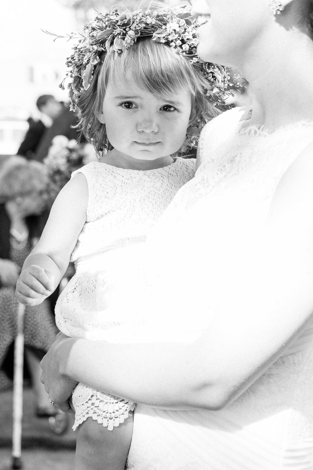 Flower girl at Toronto Island wedding