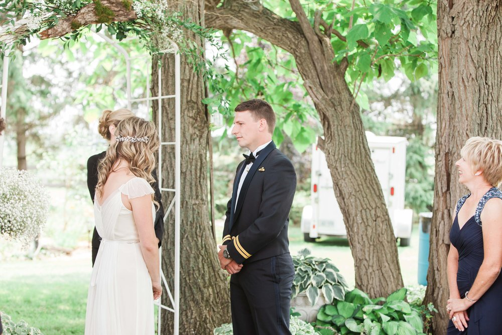 Intimate outdoor wedding ceremony