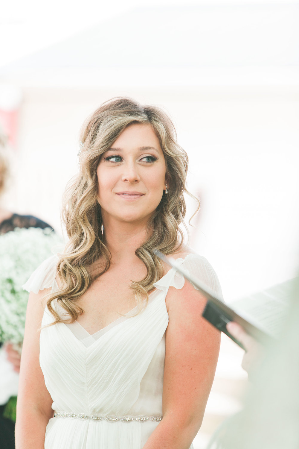 Smiling bride at intimate Ontario wedding