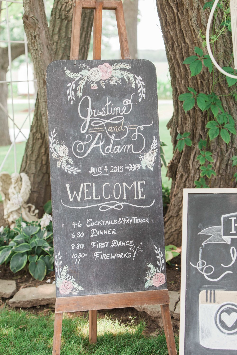 DIY chalkboard wedding signs