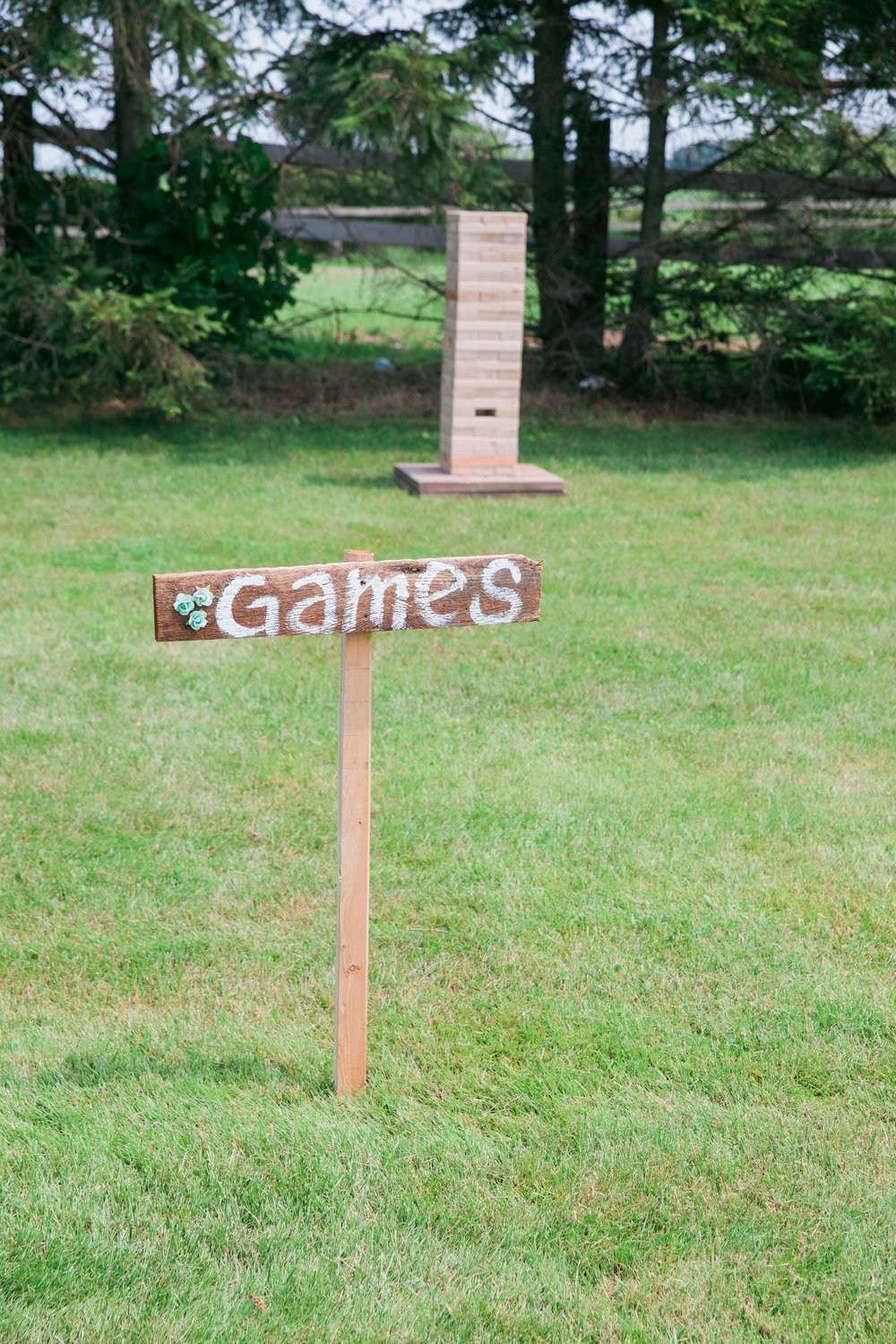 DIY wedding games at farm wedding