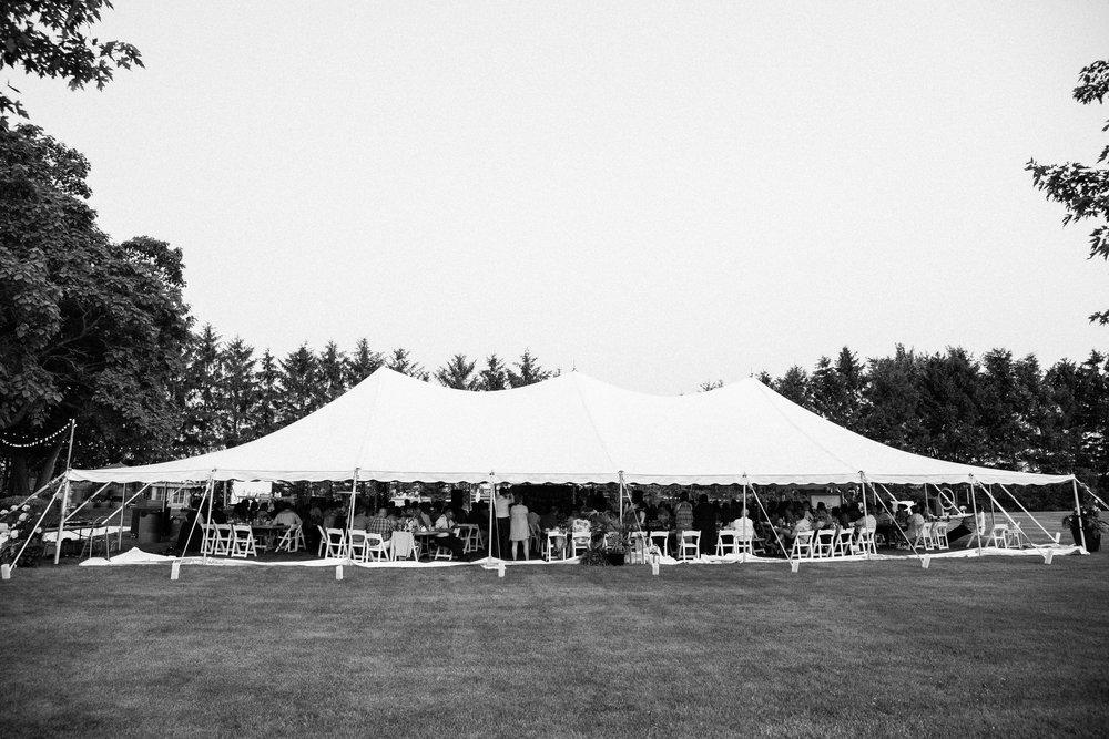Tented wedding on Ontario farm