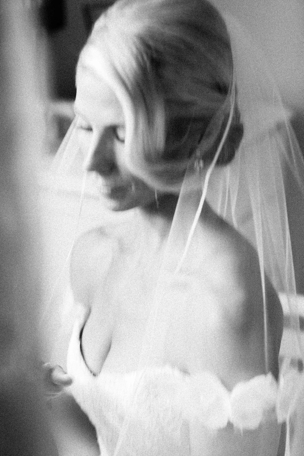 Fine art portrait of bride