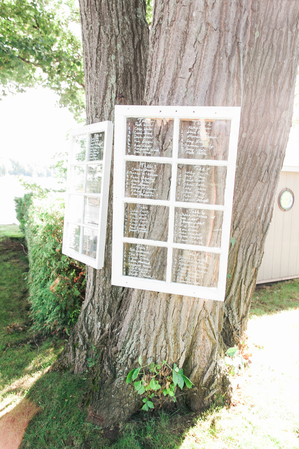 Vintage DIY seating chart