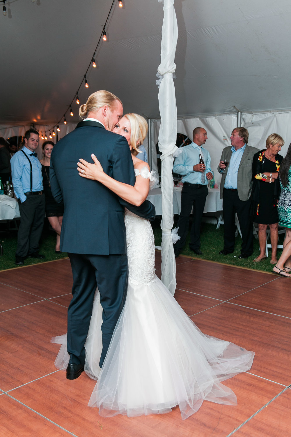 Couple's first dance at Muskoka wedding