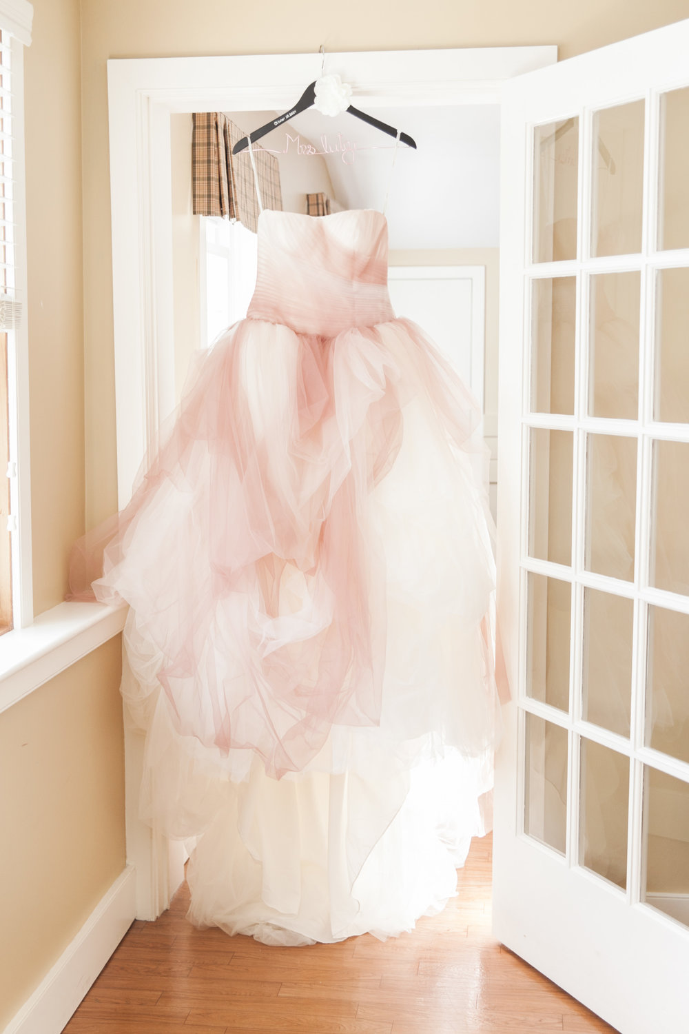 Vera Wang blush ombre dress