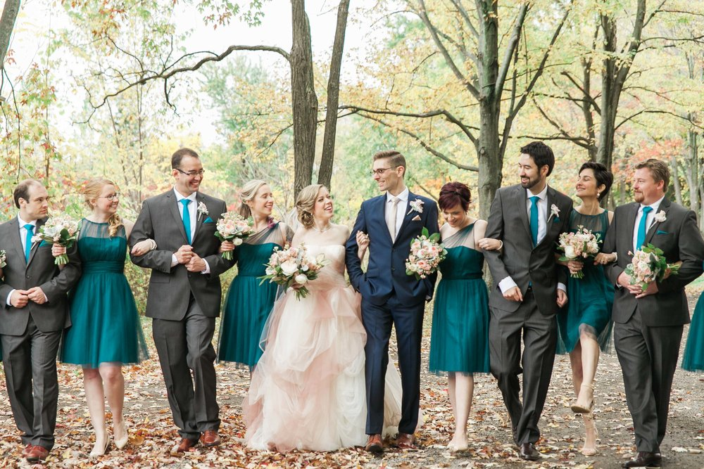 Bridal party photos at Willowbank Estate in Niagara on the Lake