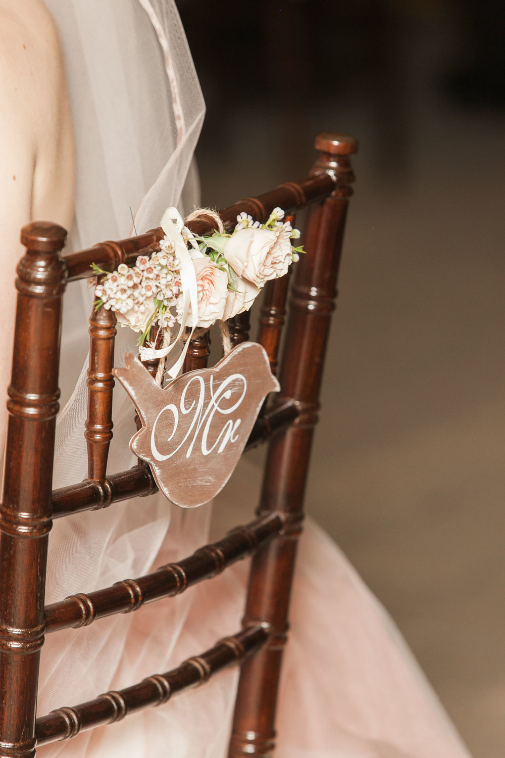 Antique wedding details at vineyard wedding