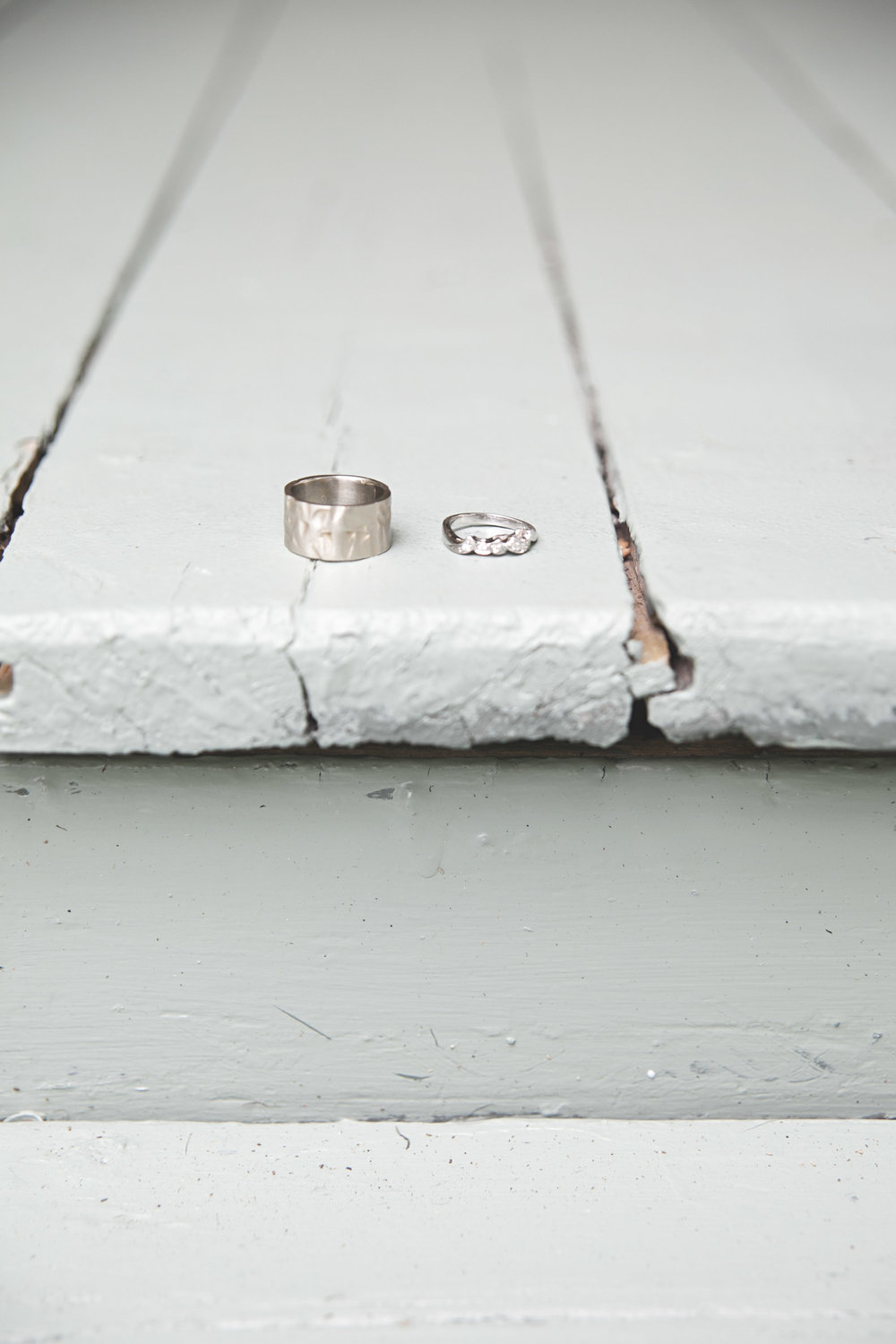 Unique white gold wedding bands