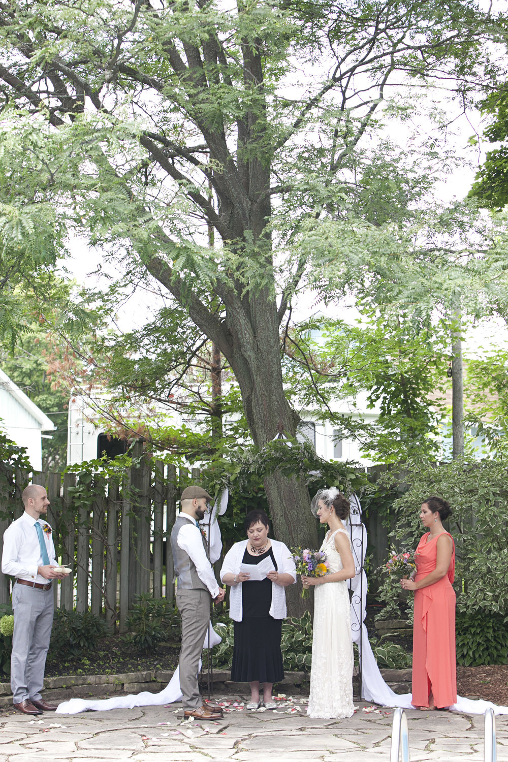 Wedding ceremony in Stratford Ontario