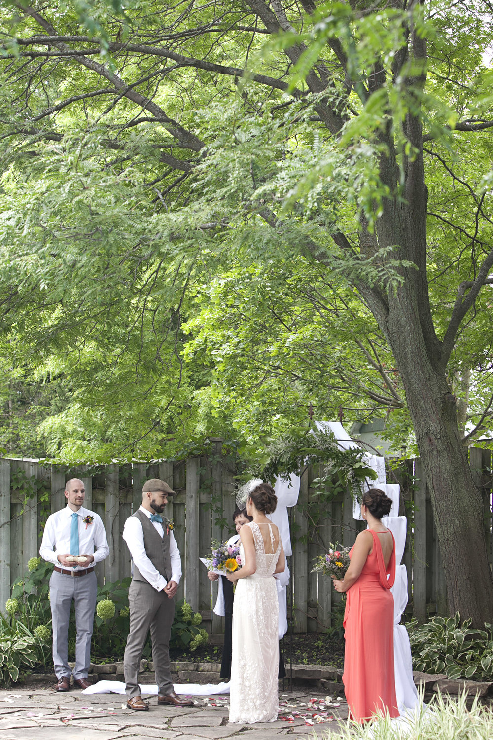 Outdoor ceremony in Stratford Ontario