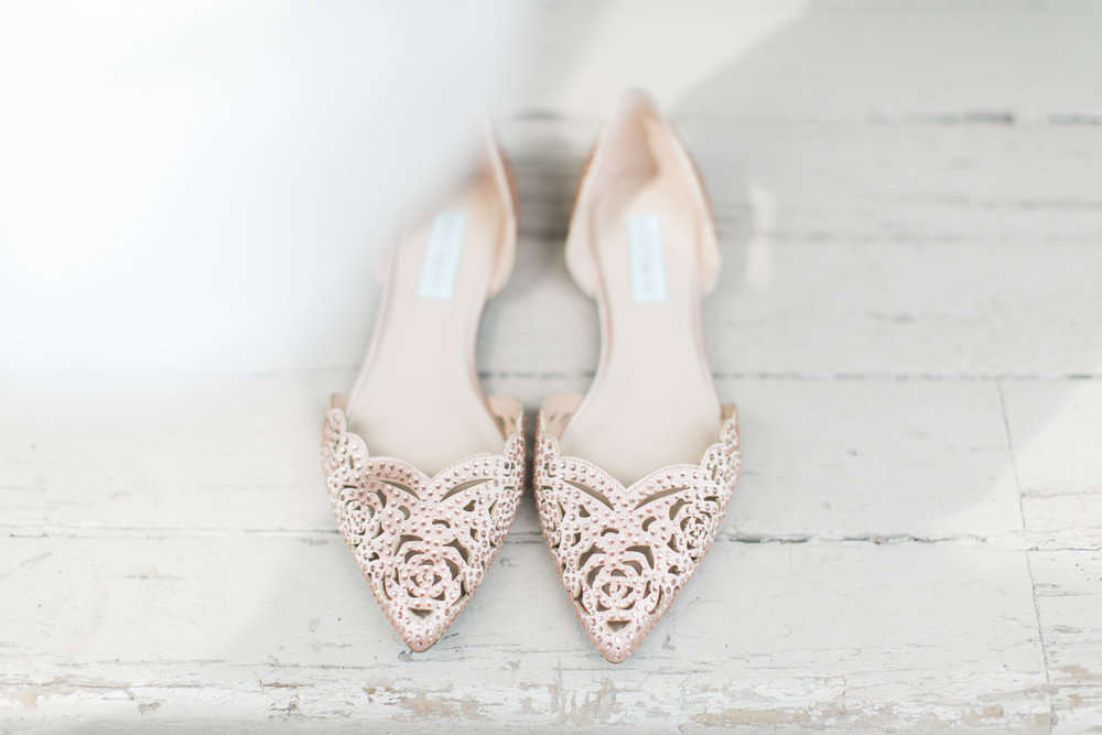 Pink Betsey Johnson wedding shoes