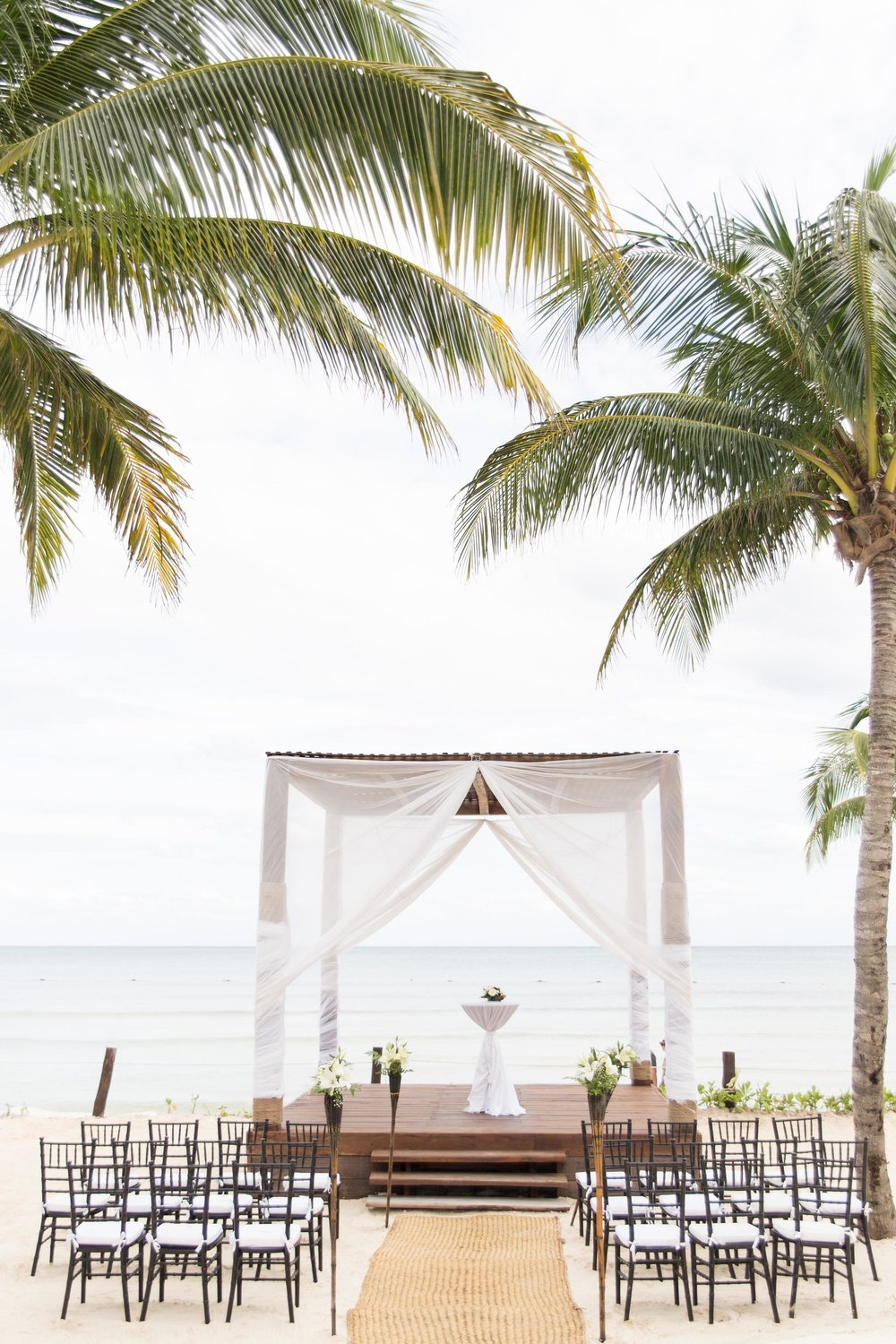 Destination wedding ceremony on the beach
