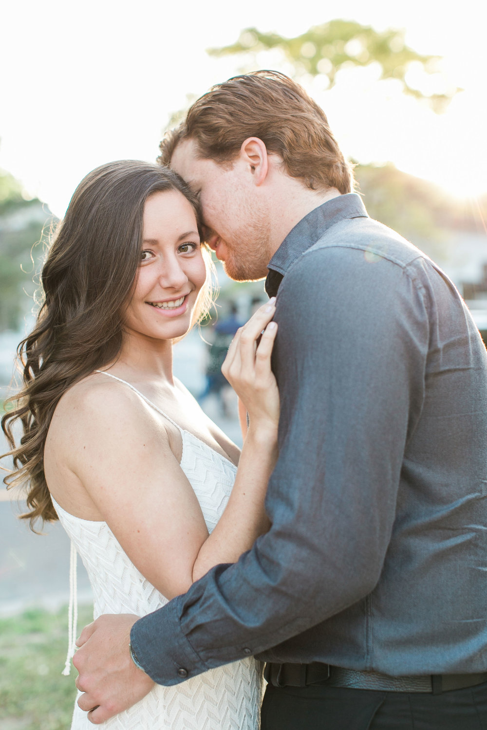 Sunset engagement photos in Unionville, Ontario