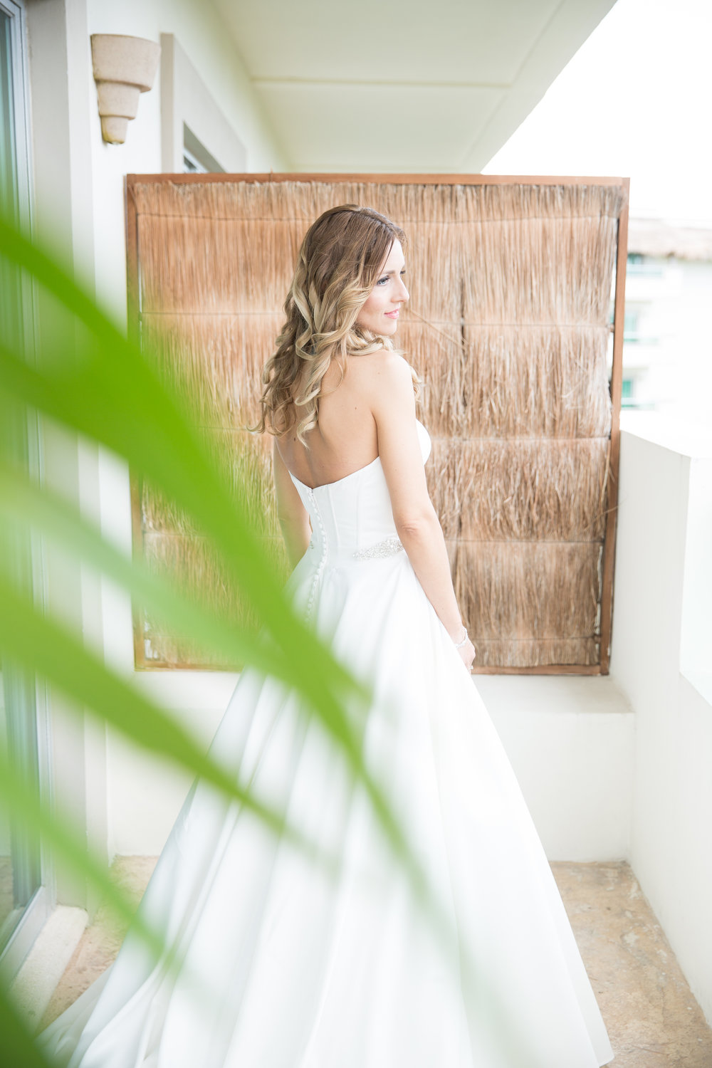 bridal portraits in playa del carmen
