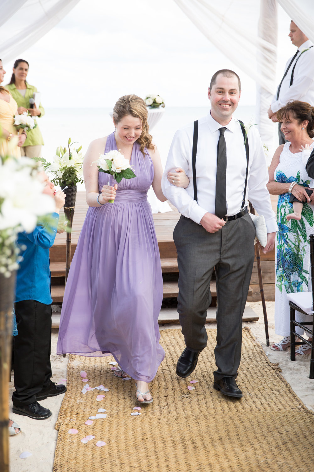 purple bridesmaids dress in mexico