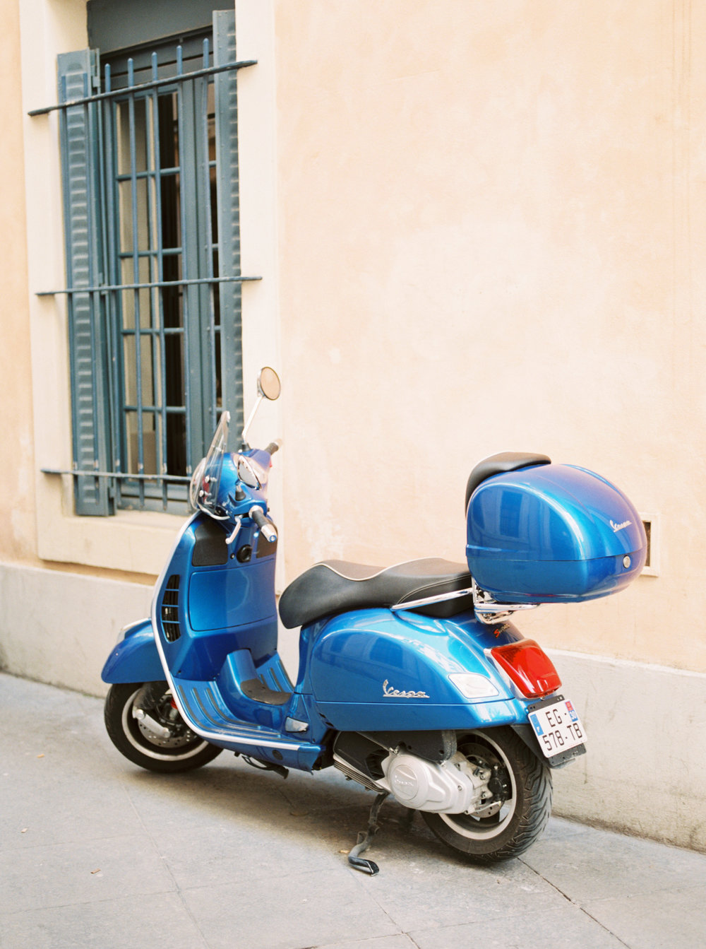 Photo of a European vespa.