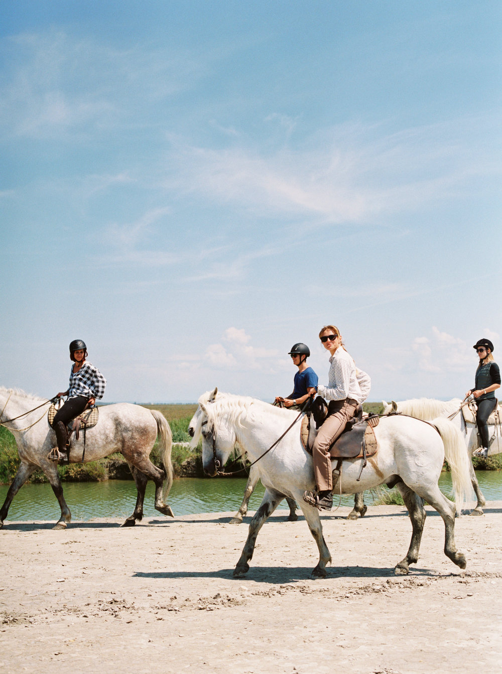 Horseback riding in France.