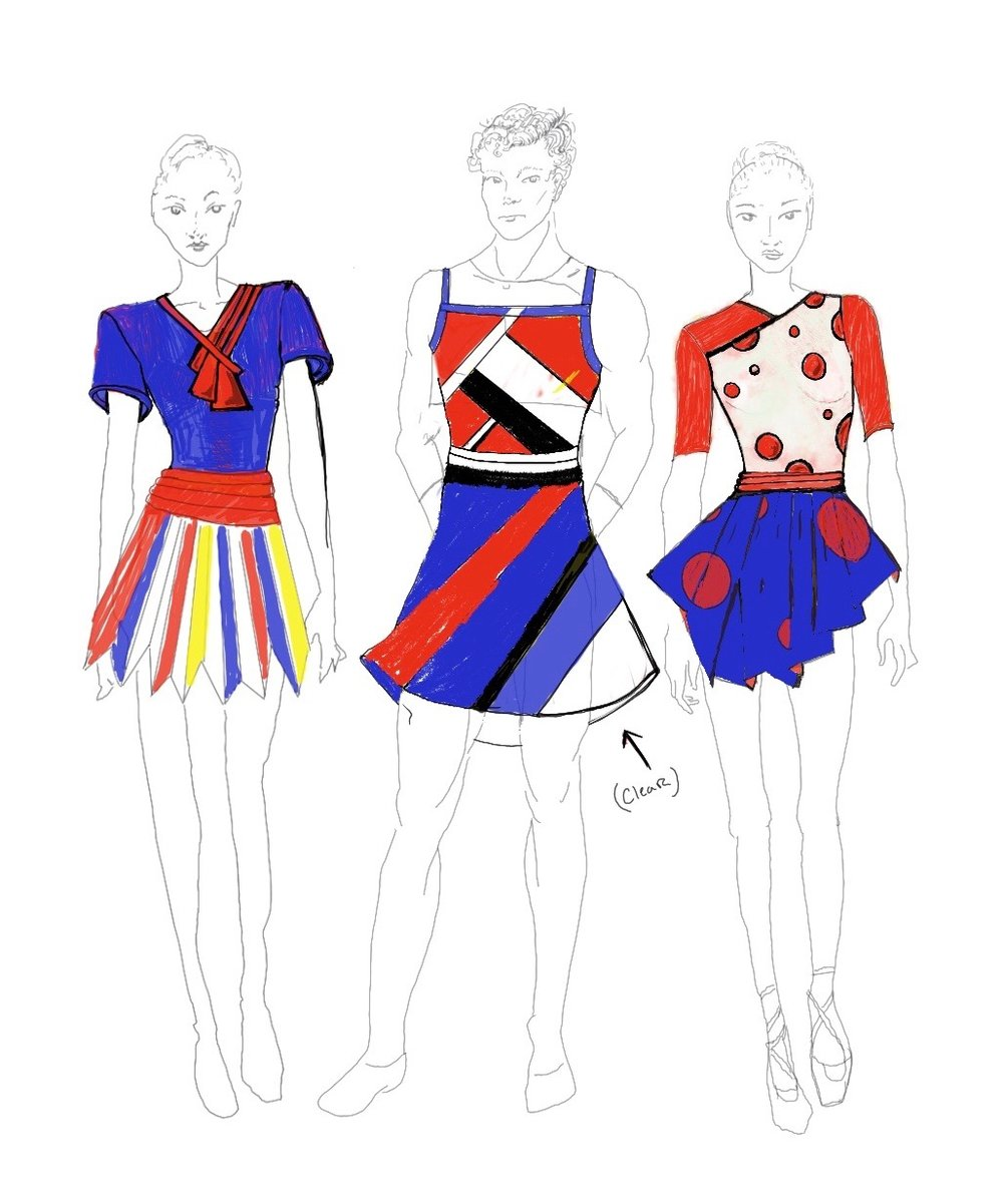 Costume concept sketch by designer  Benjamin Taylor Ridgeway  for Jennifer Hart's  Once 'Round the Sun . Catch a bonus performance of this piece during  the UMLAUF's Family Day .