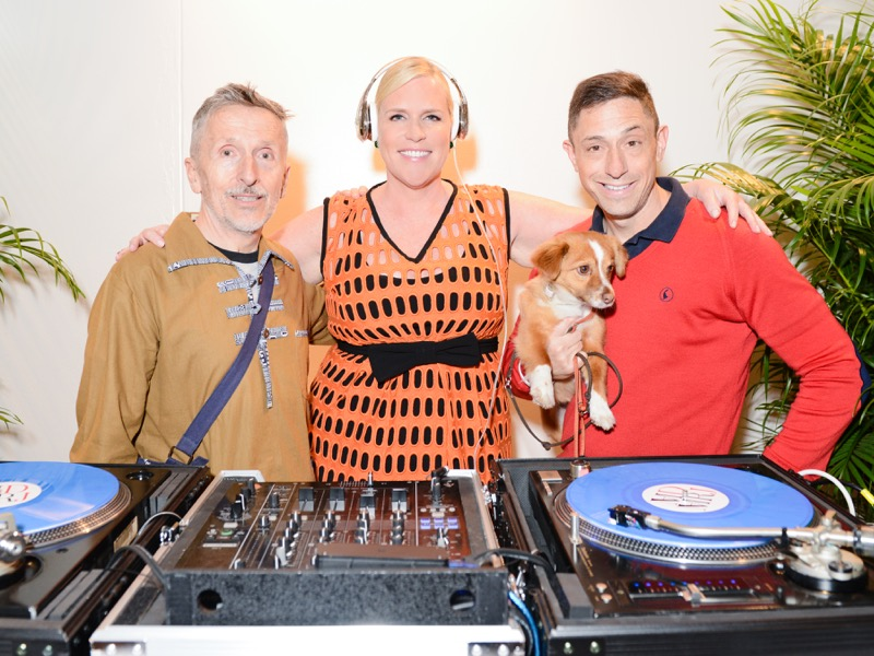 Jonathan Adler (right) and friends kick off the Hamptons Contemporary launch party
