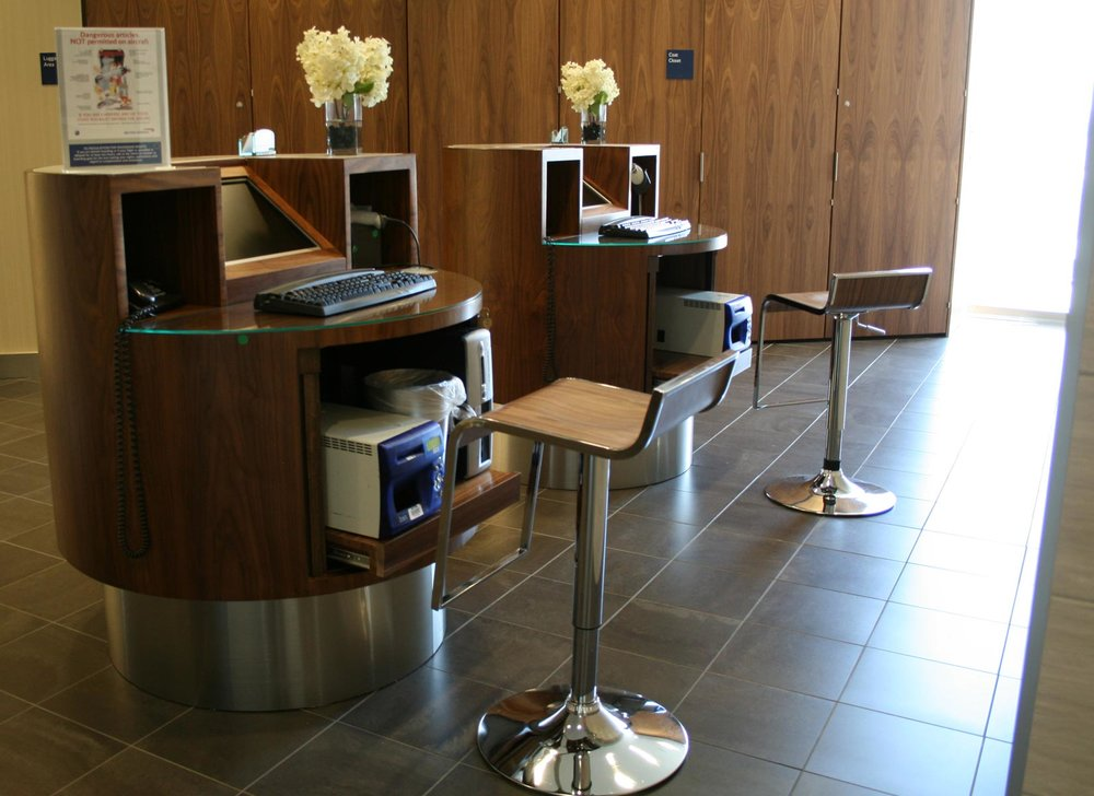 SENTIENT Furniture for British Airways Newark Airport First Class Lounge