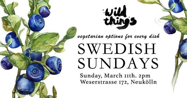 Swedish Sunday is finally back!  Join us for a cozy lunch or dinner on the 11th of March for a good old Swedish meal while the nasty winter outside slowly turns into spring. We are happily bringing back some old classics that you have been asking us about for a while. See you on Sunday!