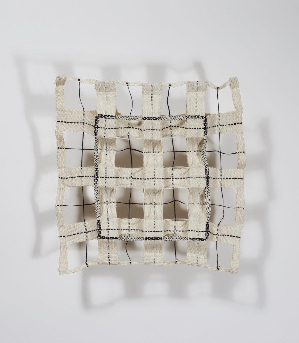 "Woven Grid   cotton gima, double weave  10"" x 10""  2017"