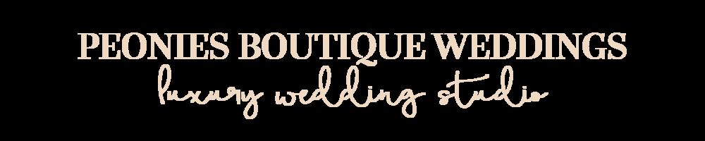 Peonies Boutique Weddings Luxury Wedding Studio