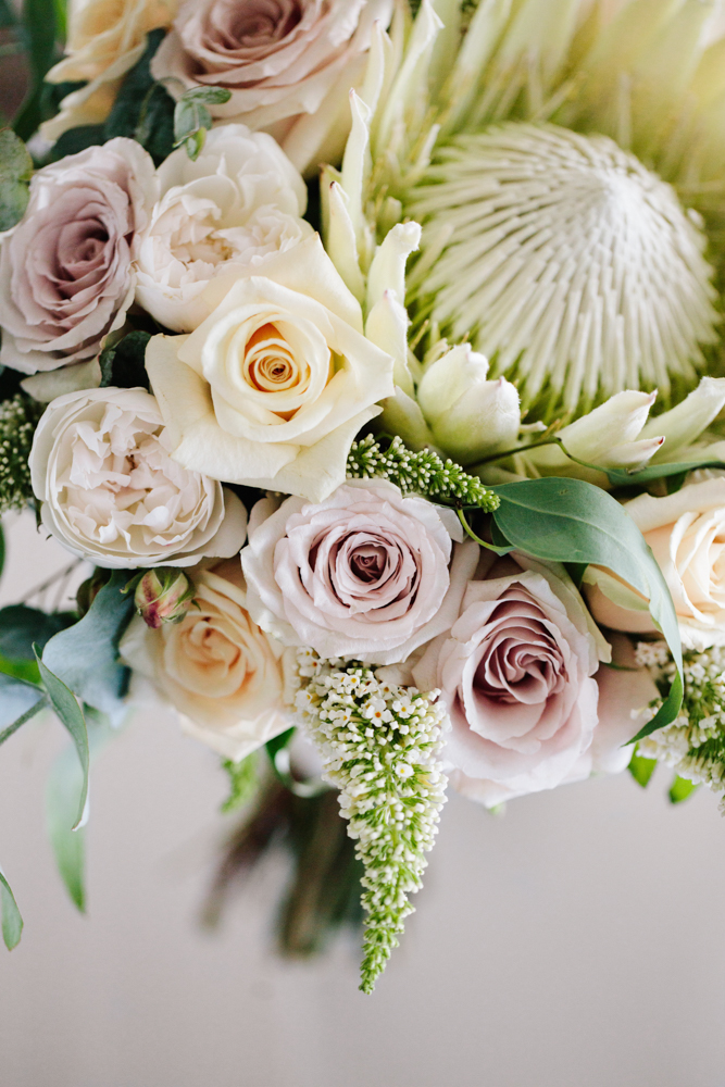Native + Roses Brides Bouquet - Wedding Flowers Hunter Valley
