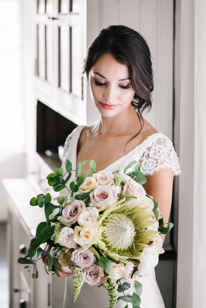 Native + Rose Brides Bouquet - Wedding Flowers Hunter Valley