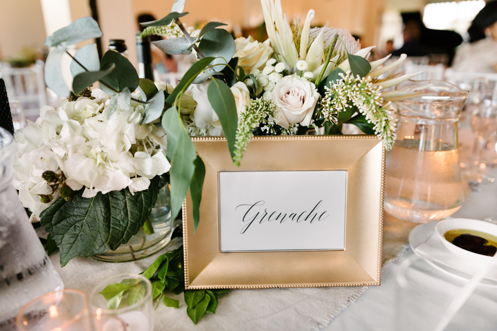 Table Number + Wedding SignPrinted Menus - Wedding Invitations Hunter Valley