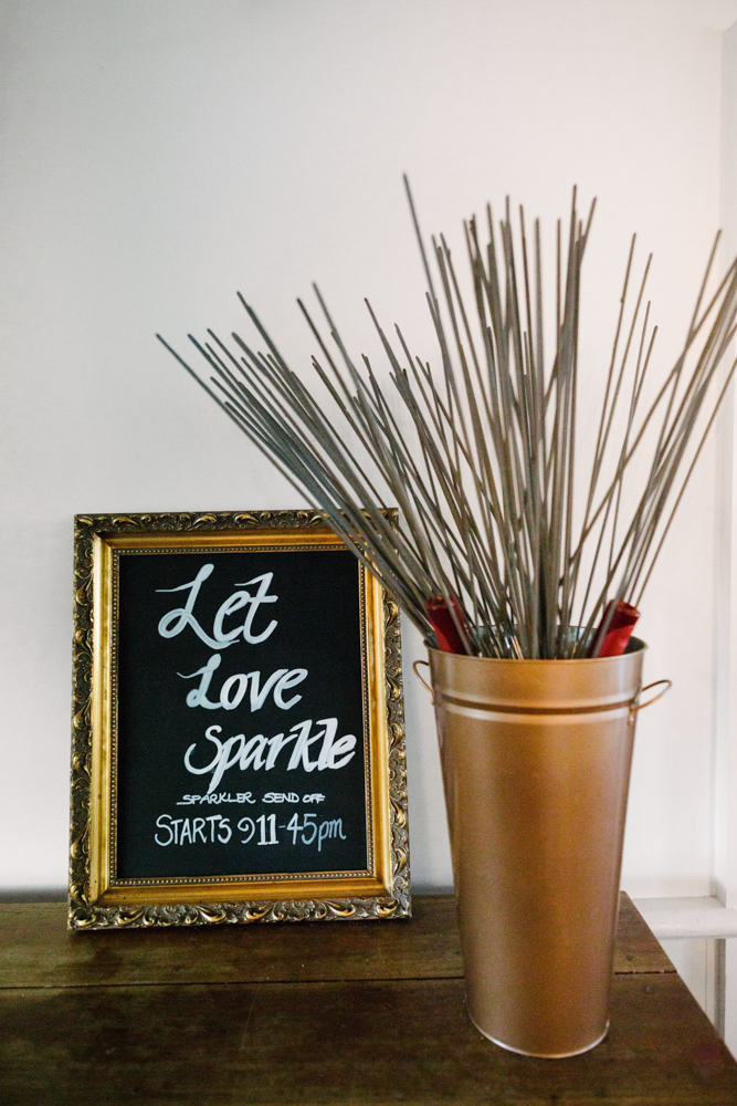 Sparkler Send-Off - Wedding Styling Hunter Valley