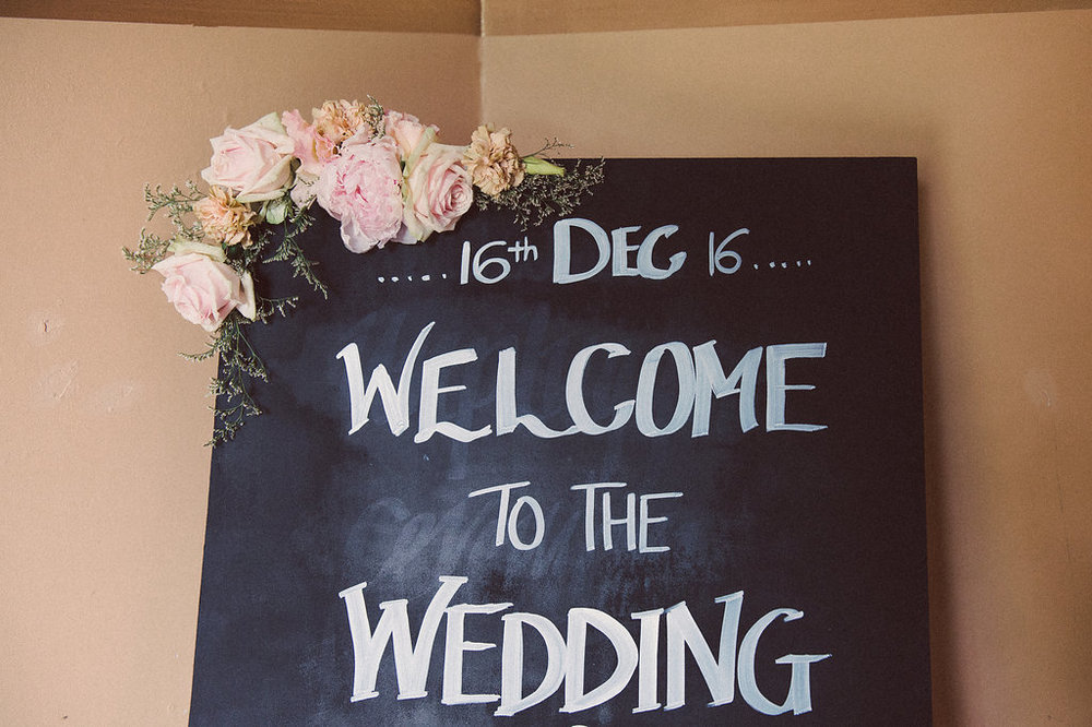Wedding Ceremony Sign - Wedding Styling + Flowers Hunter Valley