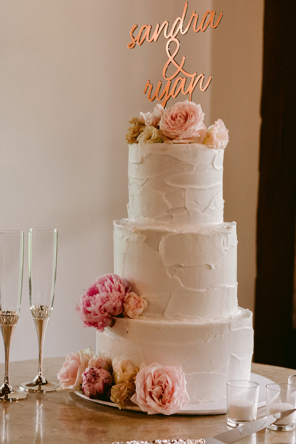 White Buttercream Wedding Cake - Wedding Planning Hunter Valley