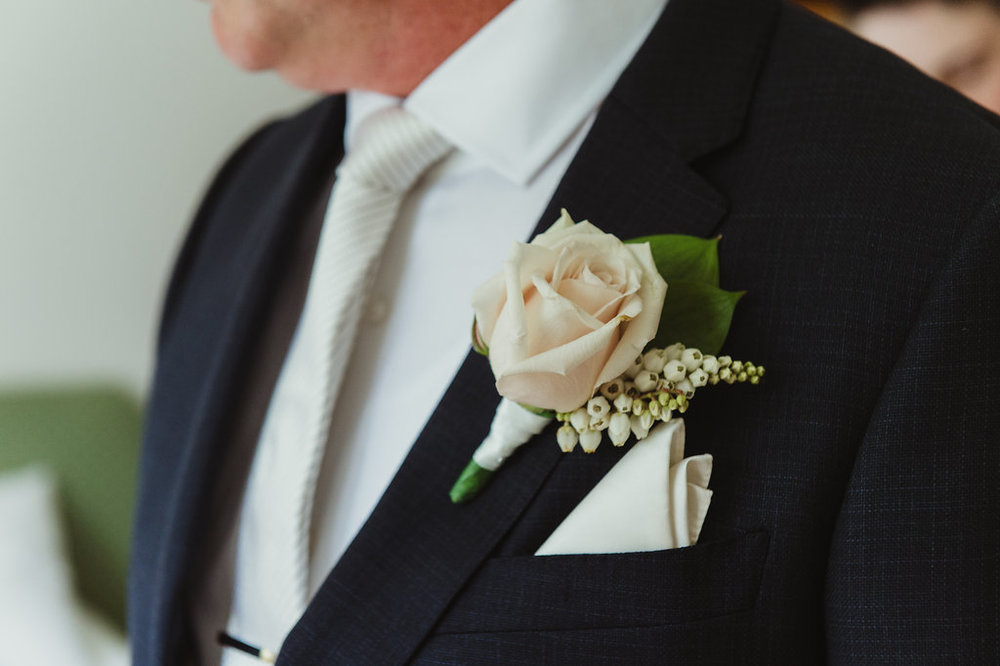 Rose Grooms Buttonhole - Wedding Flowers Hunter Valley