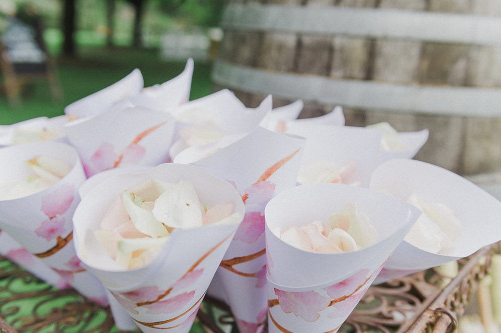 Rose Petal Confetti - Wedding Flowers & Stying Hunter Valley