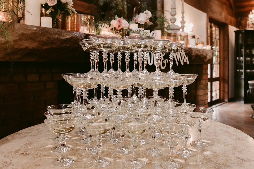 Champagne Wedding Toasting Glasses - Wedding Hire, Styling & Planning Hunter Valley