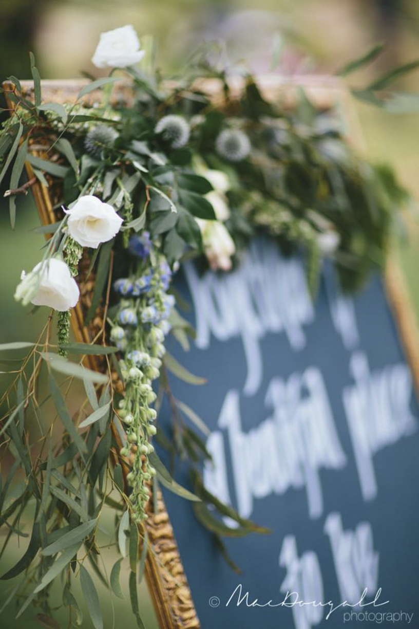 Native Flowers and Ceremony Sign - Wedding Styling Hunter Valley